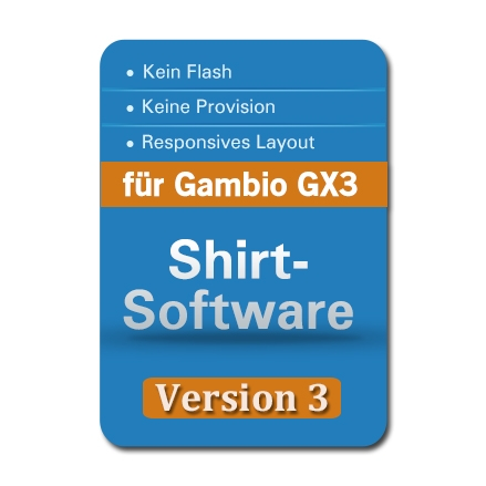 Shirt-Software v.3 für Gambio GX3 & GX4